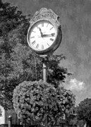Clock Hands Prints - Time Stood Still 2 BW Print by Mel Steinhauer