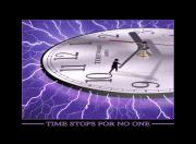 Lightning Digital Art Framed Prints - Time Stops For No One Framed Print by Mike McGlothlen