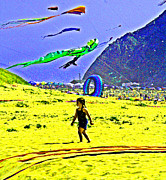 Kites Digital Art - Time to Fly My Kite by Joseph Coulombe