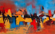 Abstract Expressionist Art - Time to Time by Elise Palmigiani