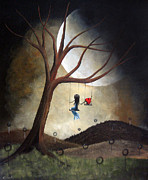 Swing Paintings - Time Together by Shawna Erback by Shawna Erback
