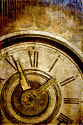 Clock Metal Prints - Time Travel Metal Print by Carol Leigh