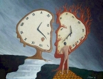 Surrealism Paintings - Time Travel by Steve  Hester