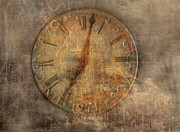 Clock Hands Digital Art Posters - Time Waits for No One Poster by Randy Steele