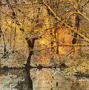 Fantasy Landscape With Figure Mixed Media Prints - Time Print by Yanni Theodorou