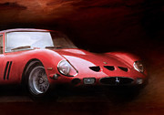 Ferrari Gto Classic Car Prints - Timeless 250 GTO 2 Print by Peter Chilelli