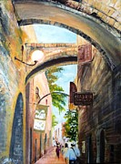 Jerusalem Painting Metal Prints - Timeless Alleys Metal Print by Betty M M   Wong