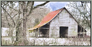 Farm Building Posters - Timeless Poster by Betty LaRue