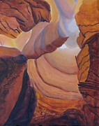 Canyons Paintings - Timeless Canyon II by Del Marinello