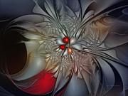 Timeless Elegance-floral Fractal Design Print by Carlita Cooly