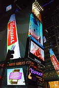 Billboard Signs Prints - Times Square Ads Print by Jim Hughes