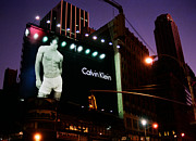 Joann Vitali Prints - Times Square and Calvin Klein Print by Joann Vitali