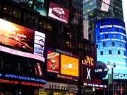 Times Square At Night New York City Print by Robert Ford