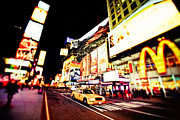 Midtown Posters - Times Square at Night - New York City Poster by Vivienne Gucwa
