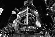Manhattan Framed Prints - Times Square black and white ii Framed Print by John Farnan