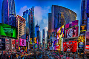 New York City Skyline Digital Art Framed Prints - Times Square Framed Print by Chris Lord