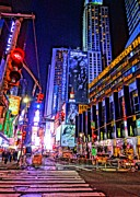 Business-travel Mixed Media Prints - Times Square Print by Dan Sproul
