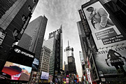 Sky Line Digital Art Framed Prints - Times Square DYNAMIC Framed Print by Melanie Viola