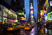 Times Square In The Rain Print by Garry Gay