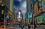 Cities Digital Art Metal Prints - Times Square Metal Print by Jeff Breiman