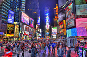Times Square Nyc Digital Art Prints - Times Square Print by Kamila  Gornia