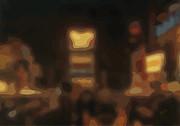 Times Square Lights 2 Print by Nop Briex