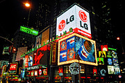 Joann Vitali Prints - Times Square Lights Print by Joann Vitali