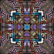 Creative Prints - Times Square Mirrored Reflections Print by Susan Candelario