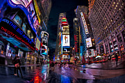 Square Prints Prints - Times Square New York City The City That Never Sleeps Print by Susan Candelario