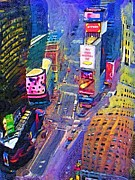 Times Square Digital Art Acrylic Prints - Times Square NYC Acrylic Print by Bud Anderson