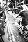 The Pathway Photos - Times Square Ride BW by Karol  Livote
