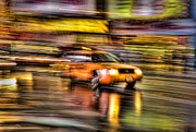 Nyc Photo Prints - Times Square Taxi I Print by Clarence Holmes