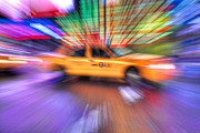 Lighting - Times Square Taxi V by Clarence Holmes
