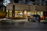Tim Hortons Framed Prints - Timmys At Night Framed Print by John Herzog