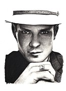 Rosalinda Drawings - Timothy Olyphant by Rosalinda Markle