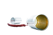 William Voon Metal Prints - Tin Can Phones Metal Print by William Voon