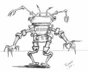 Mechanical Drawings - Tin Man by Dan Twyman