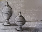 New Jersey Drawings Originals - Tin Orbs by Maria Milazzo