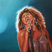 Eric Clapton Painting Prints - Tina Turner 3 Print by Paul Meijering