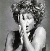 Tina Turner Prints - Tina Turner - Emotion Print by Paulette Wright