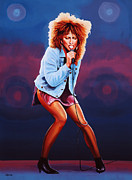 Mick Jagger Painting Metal Prints - Tina Turner Metal Print by Paul  Meijering