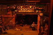Wood Carving Art - Tinkertown Blacksmith Shop by Jeff  Swan