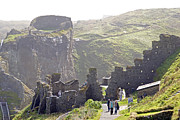 Uther Pendragon Prints - Tintagel castle Print by Rod Jones