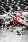 Ford Tri-motor Photos - Tinted Tri-Motor by Chris Smith
