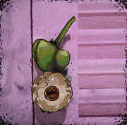 Knob Drawings Framed Prints - Tiny Bell Framed Print by Tammy Sherman