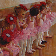 Ballet Dancers Paintings - Tiny Dancers by Jeanne Young