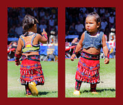 American Prints Framed Prints - Tiny Jingle Dancer Framed Print by Theresa Tahara