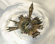 360 Bridge Posters - Tiny World - Westminster Poster by Heather Applegate