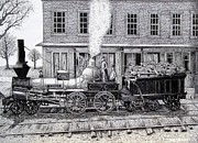 Train Drawing Posters - Tioga 1848 Poster by Bruce Kay