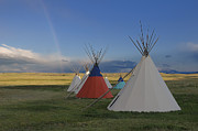 Great Plains Photos - Tipi Camp II by Christian Heeb